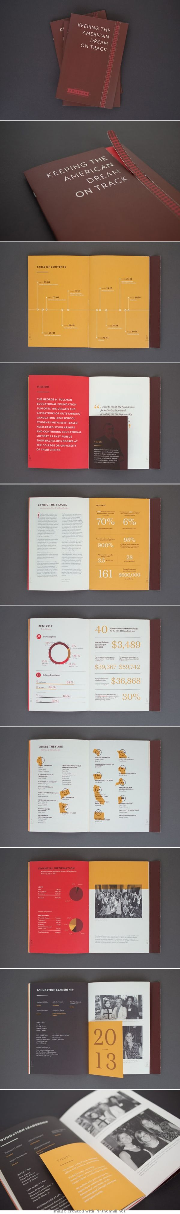Nicole and Mike McQuade: Pullman Foundation Annual Report  Nice infographics