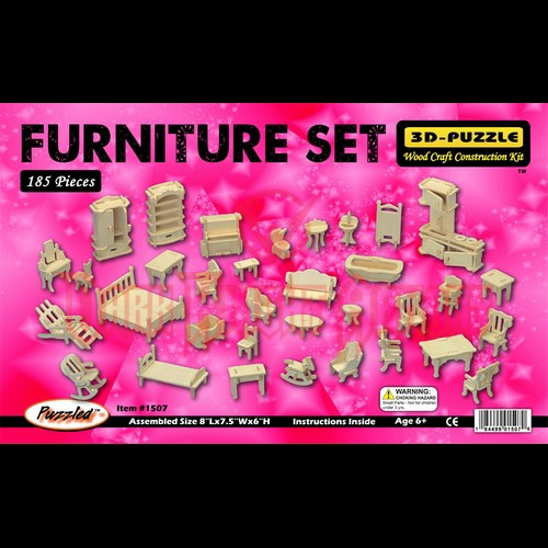 Large Furniture Set for 3-D House Puzzles $12