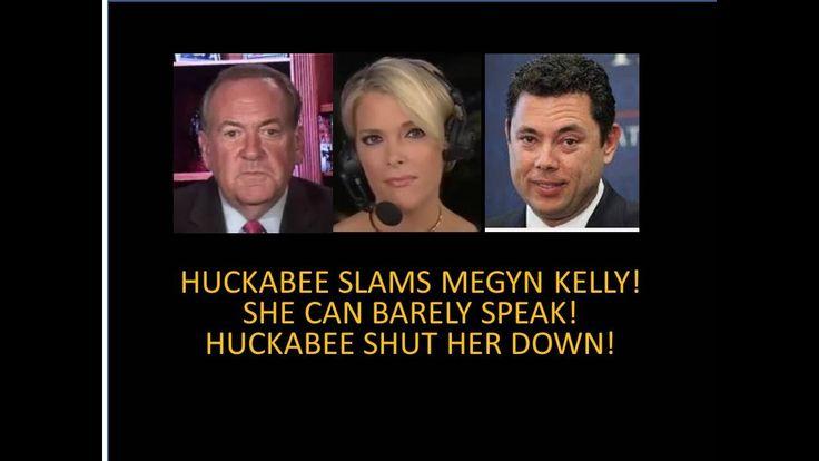 Huckabee Slams Megyn Kelly! She Can Barely Speak! Huckabee Shut Her Down Like Donald Trump Jr. Did! - YouTube