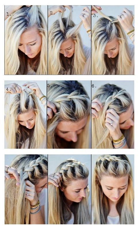 #HowTo Make A Half-Up Side French #Braid #frenchbraid #hair