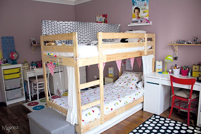 Les 25 meilleures id es de la cat gorie chambres avec lits superpos s sur pin - Chambre fille avec lit superpose ...