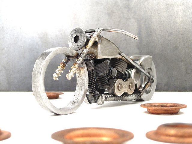 Bike 133 scrap metal art sculpture | Flickr - Photo Sharing!