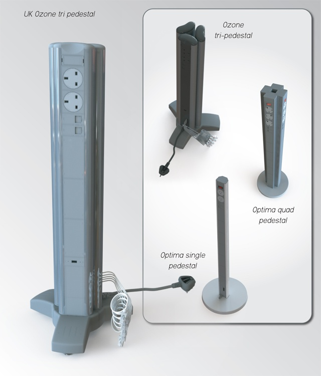 The Pedestal unit is the perfect addition to any hotel lobby or airport waiting area for those travelers or waiting people that just quickly need to recharge their phone or laptop.