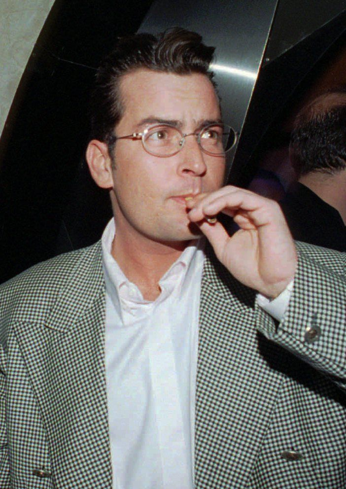 I picked a picture of Charlie Sheen because people say that I'm mean but I don't really think I am.
