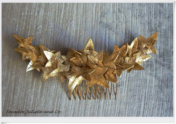 tocados hojas doradas