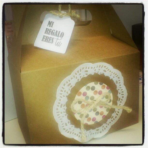 Caja decorada,packaging,caja regalo original