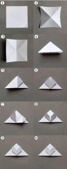 Origami bookmark -step by step | Heart Bookmark | DIY | For Book | Marcador de Página