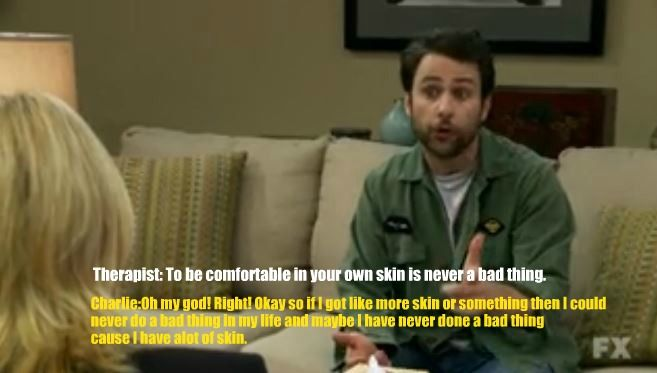 from the episode The Gang Gets Analyzed of It's Always Sunny In Philadelphia