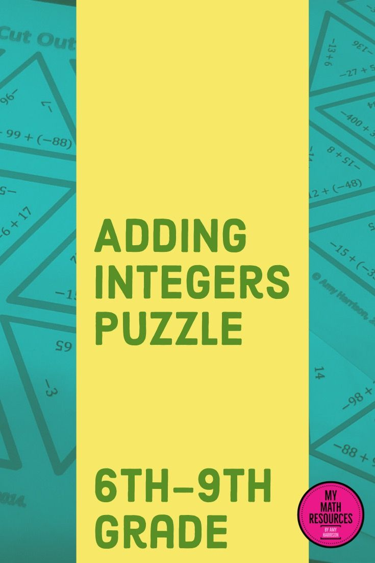Adding Integers Triangle Puzzle Middle School Jr High Math 6th 7th 8th 9th Grade Fun Math Activities Math Math About Me [ 1102 x 735 Pixel ]