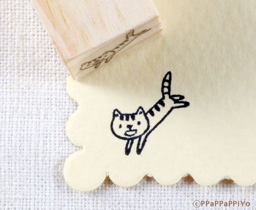 Cute Cat Rubber stamp – Daisy G