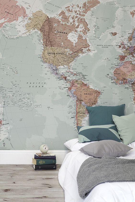 83 best world map wallpaper images on pinterest decoraciones del classic world map wallpaper wall mural muralswallpaper gumiabroncs Gallery