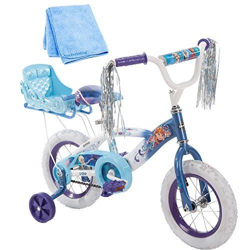 12 Inch Huffy Bicycle Frozen Kids Bike for Girls, Blue with Training Wheels and Cleaner Cloth. #Inch #Huffy #Bicycle #Frozen #Kids #Bike #Girls, #Blue #with #Training #Wheels #Cleaner #Cloth