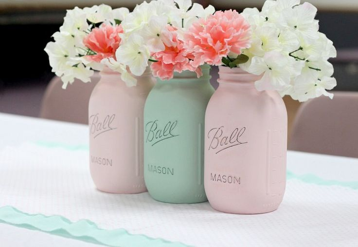 How To Paint Mason Jars - Love of Family & Home ^