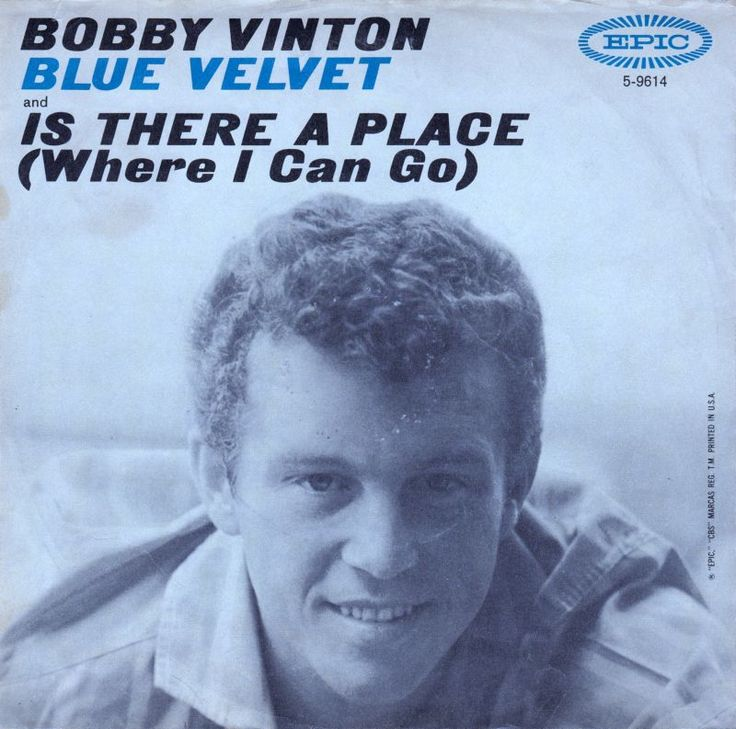 Blue Velvet-Bobby Vinton- Vinton Cover of Original- can't get any better than this! Description from pinterest.com. I searched for this on bing.com/images