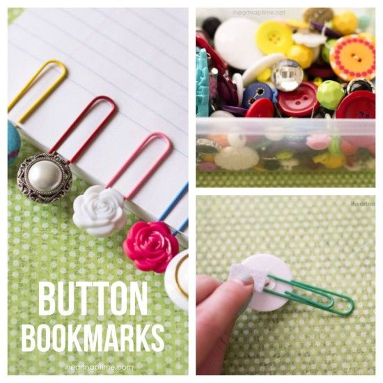 Paperclip Button Bookmarks