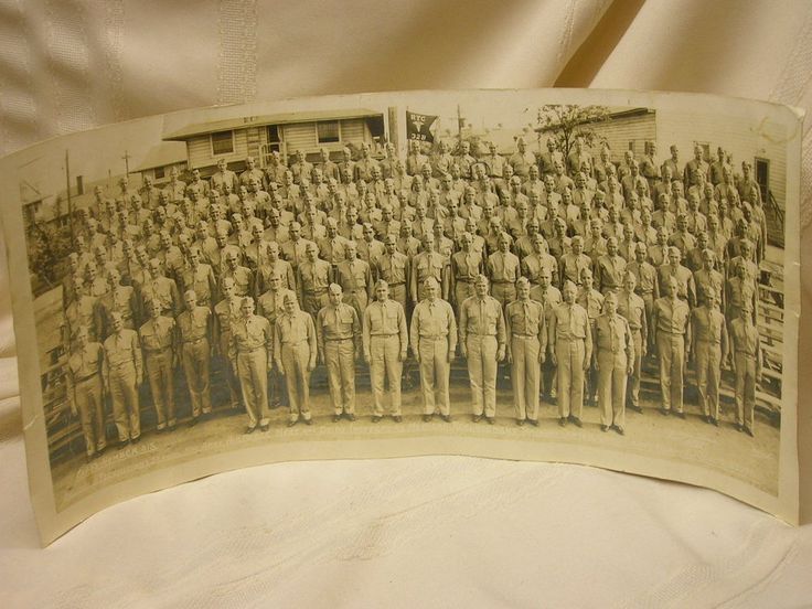 "Vintage 1943 Photograph Camp Grant Illinois 17 1/2"" X 8"" Class Number Six"