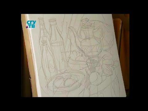 Уроки живописи # 1. Рисуем натюрморт в технике «гризайль»
