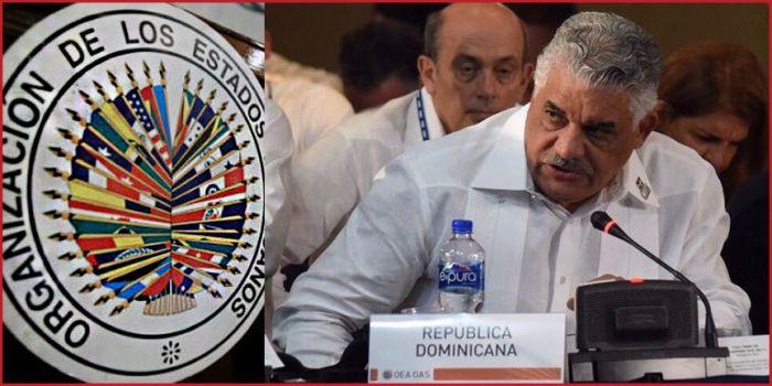 Canciller Miguel Vargas en la XXIX Reunión de Consultas de Ministros de Relaciones Exteriores de la Organización de Estados Americanos (OEA) en Cancún, México.