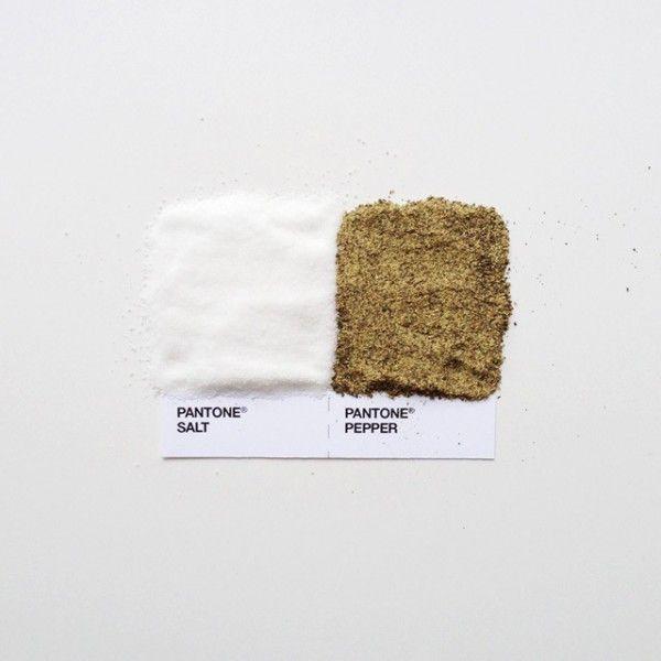 Pantone Food  Condiments by David Schwen