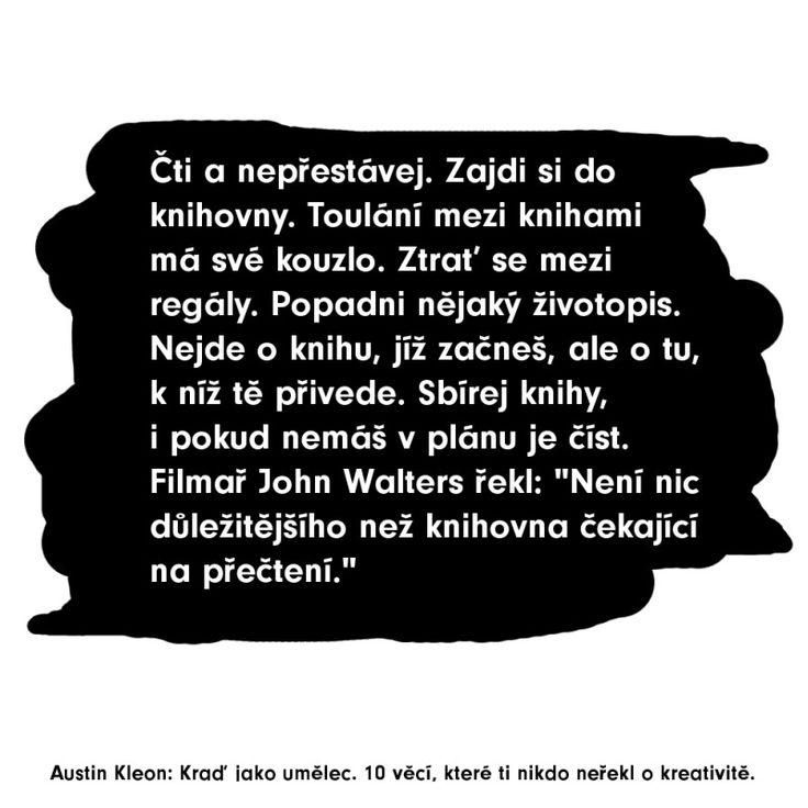 Austin Kleon o knihách a kreativitě