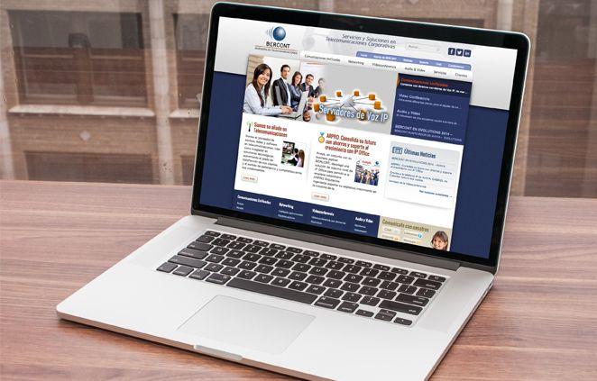 Sitio web Bercont