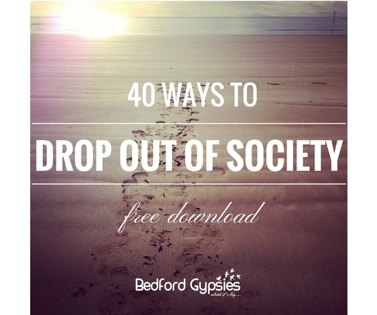 FREE DOWNLOAD of the 40 ways to drop out of society