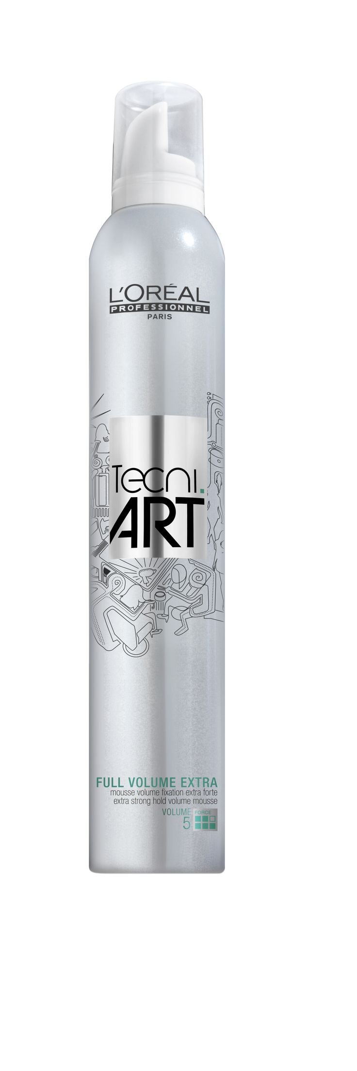 L'Oréal Professionnel Tecni.ART Volume - Full Volume Extra - extra strong hold volume mousse 400ml.