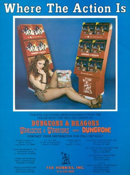 One of the few times sex was ever used to sell Dungeons and Dragons...