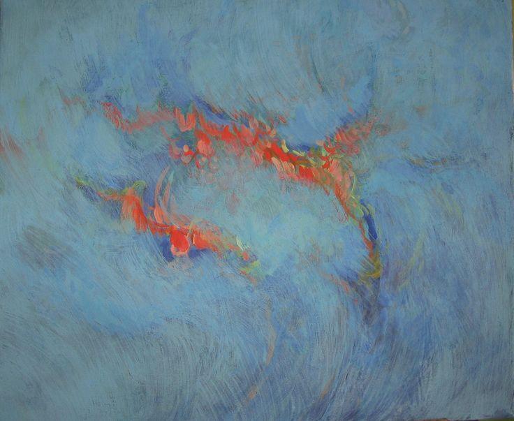 Jizva Malba na plátno temperou a akrylem, rozměr blindrámu 51 X 60 cm.