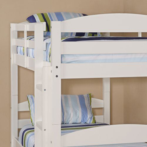 WE Furniture Twin over Twin Solid Wood Bunk Bed, White  http://www.mytimehome.com/we-furniture-twin-over-twin-solid-wood-bunk-bed-white-2/