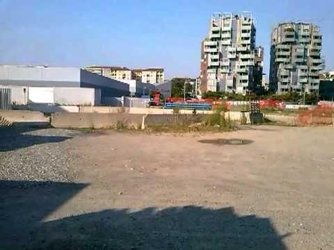 Cantiere del Portello, il tratto ancora chiuso del parco.