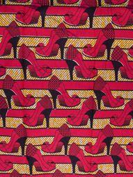 wax africain en cire haut qualité au motif chaussures à talons hauts frrw210979