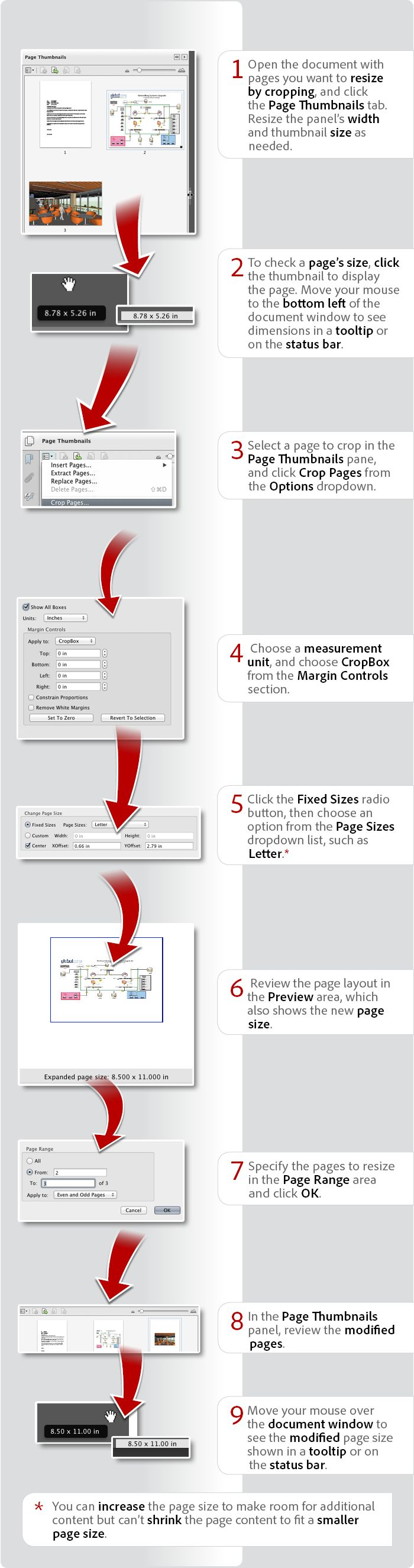 how to resize a pdf for an add