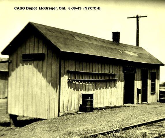 McGregor, Ontario -  New York Central RR depot p 1943