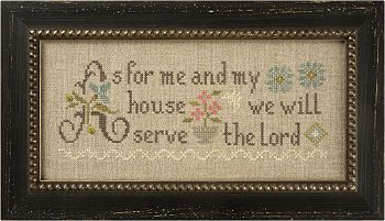 cross sitch - lizzie kate - as for me and my house, we will serve the Lord