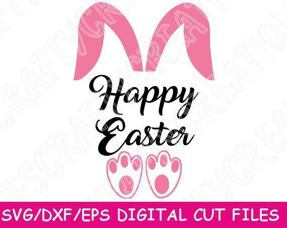 Silhouette Spring Decor Cricut Hoppy Easter SVG Easter Bunny PNG Easter Sign Cut File Easter Decoration SVG Happy Easter Dxf