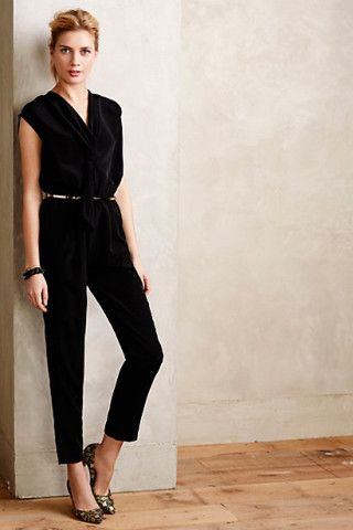 Vista Petite Jumpsuit from Anthropologie, A clean and glam look for your next night out!