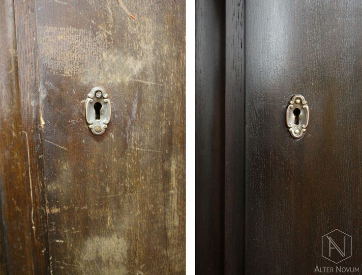 Dębowy kredens po renowacji w pracowni Alter Novum w Krakowie - detal. /// Oak sideboadr - restoration by Alter Novum - detail.