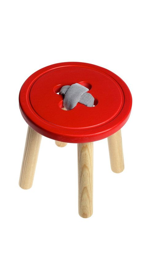 Button stool - cute for kid's room