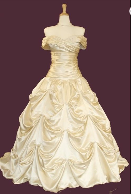 My favorite disney princess belle inspired wedding for Belle style wedding dress