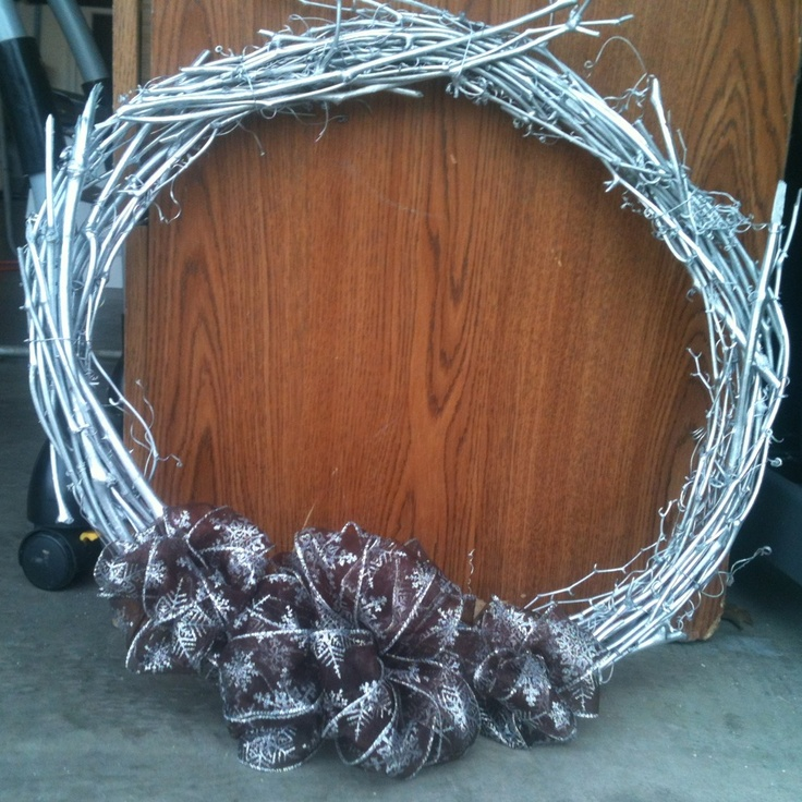 Third wreath I made myself. It has 3 bows because the person I made it for has 2 daughters and pregnant with the 3rd.
