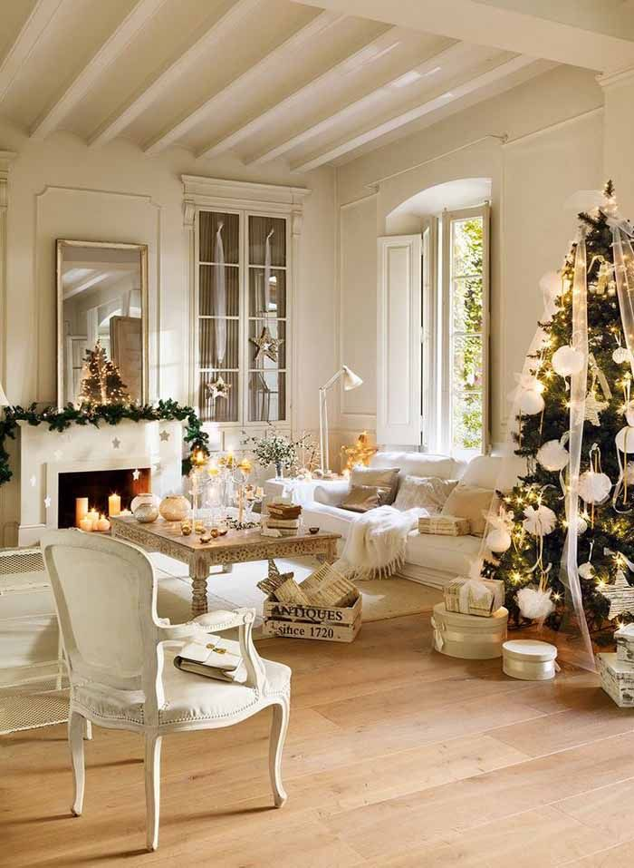Decorate in All White For Christmas
