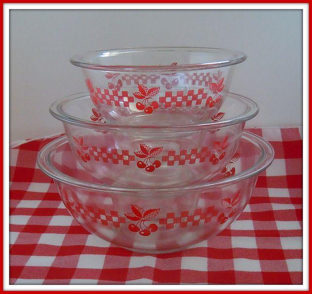 Vintage Kitchen Bowls: Pyrex Cherry Bowls By SharonLou2009, Via Flickr