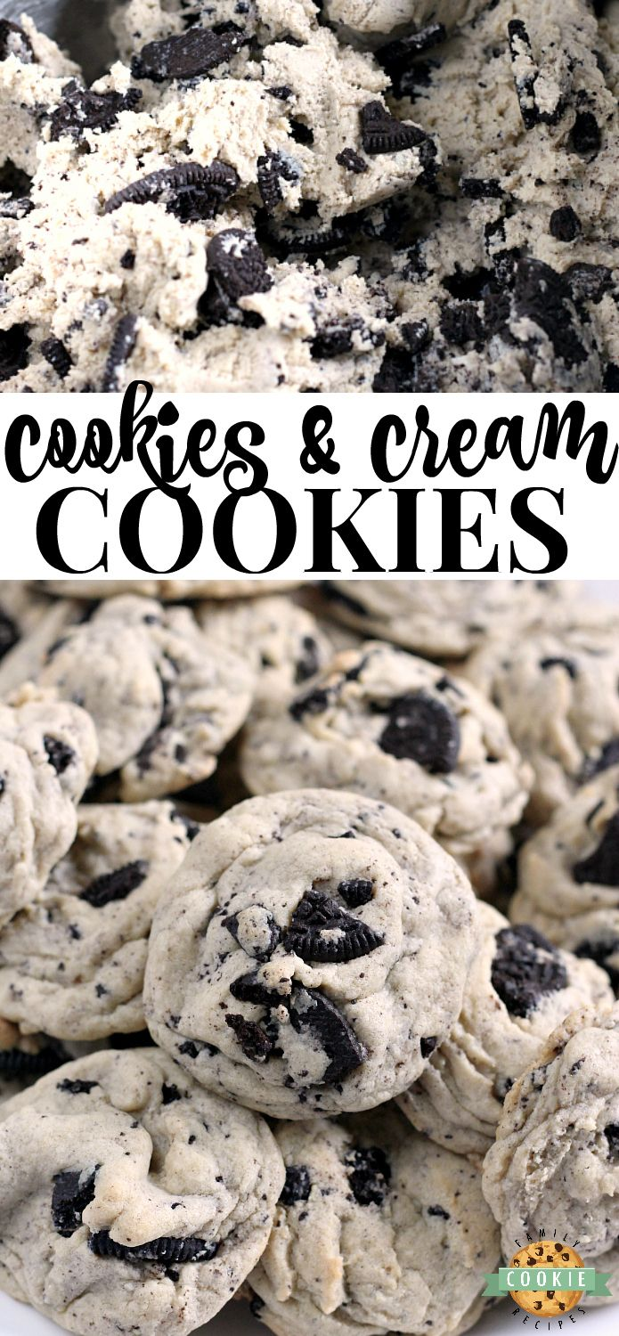 Cookies & Cream Cookies are made with pudding mix …