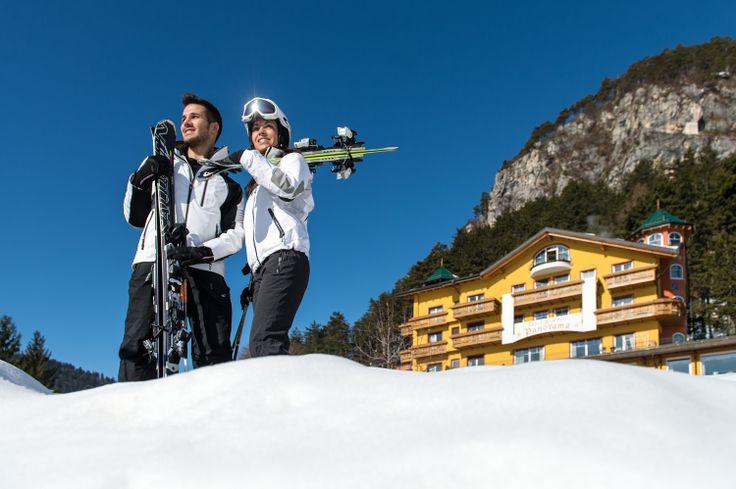 #Hotel #Panorama im #Winter . Perfekter Tag zum #Ski fahren. Mehr Informationen auf http://www.selectedhotels.com/de/hotel/alp-wellness-sport-hotel-panorama