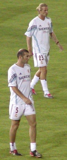 Бэкхем  и  Зинедин  Зидан.  2003.