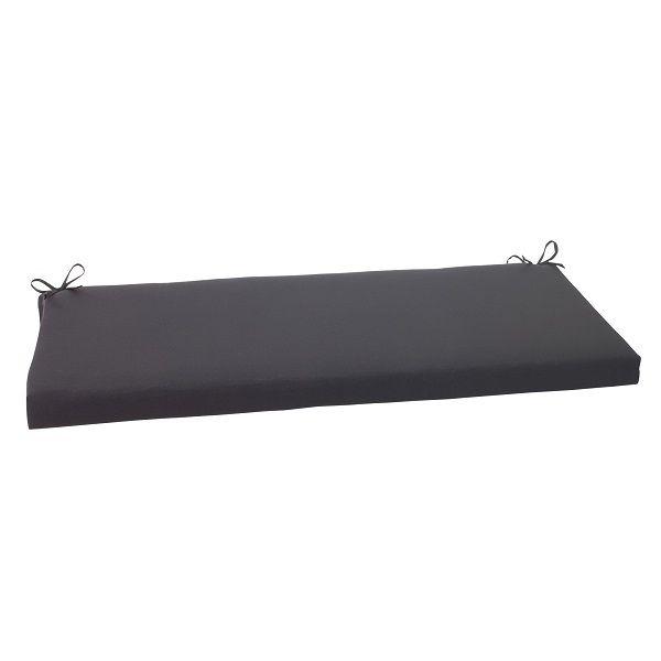 45 Solid Dark Gray Outdoor Patio Bench Cushion With Ties 30951615 Bench Cushions Outdoor Cushions Perfect Pillow