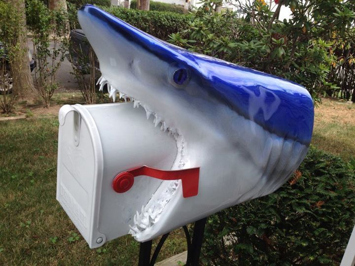 233 best mailbox images on pinterest letters mail boxes for Funny mailboxes for sale