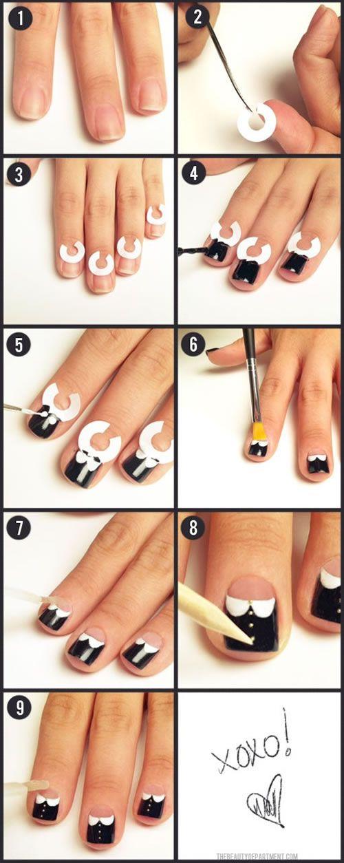 Original forma de pintar tus uñas nails