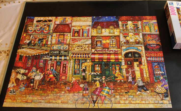 Streets of France - 1000-piece Ravensburger puzzle (artist Jennifer Garant)
